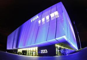 A general view shows FIFA headquarters in Zurich