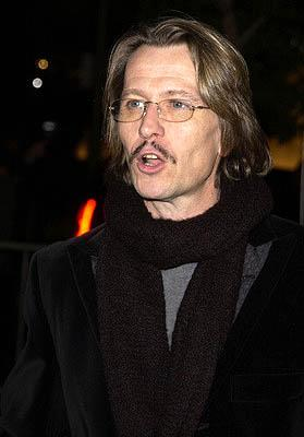 Gary Oldman at the LA premiere of Columbia's Panic Room