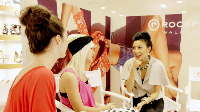 COMMERCIAL IMAGE - In this photograph taken by AP Images for Rockport, Jeannie Mai hosts The Rockport Fashion Lounge at Dillard's Scottsdale Fashion Square on Saturday, May 12, 2012 in Scottsdale, Ariz. (Rick Scuteri/AP Images for Rockport)