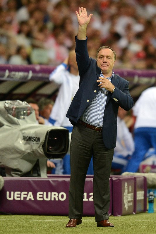Russian Headcoach Dick Advocaat Gestures AFP/Getty Images