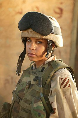 "Lizette Carrion as Pfc. Esmeralda ""Doublewide"" Del Rio ""Over There"" on FX"