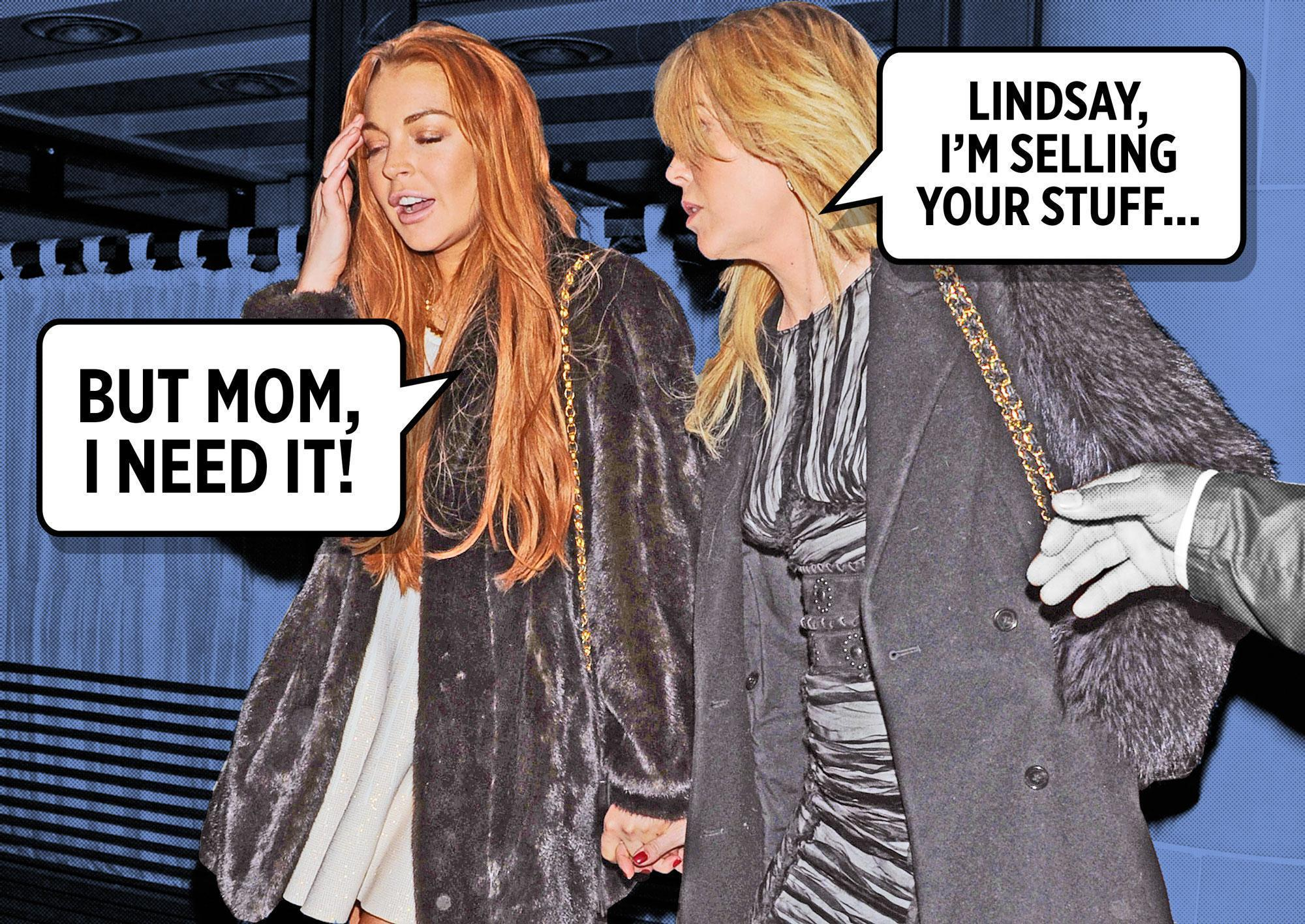 Lindsay Lohan's Mom Is Selling All of Her Stuff