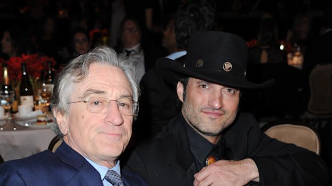 Robert De Niro, left, and Robert Rodriguez are seen in the audience at the 24th Annual Producers Guild (PGA) Awards at the Beverly Hilton Hotel on Saturday Jan. 26, 2013, in Beverly Hills, Calif. (Photo by Jordan Strauss/Invision for Producers Guild/AP Images)