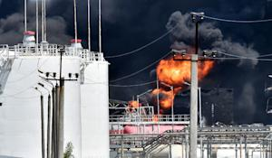The fire at an oil-storage facility in the village…