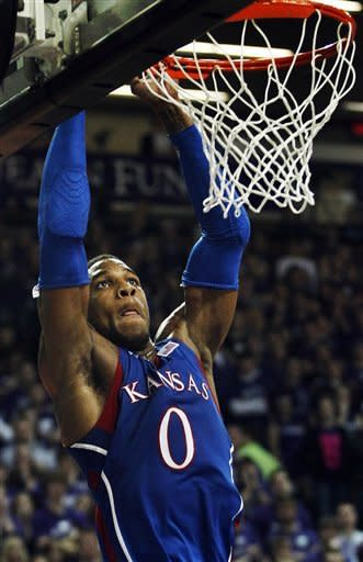 Taylor leads No. 4 Kansas to 59-53 win at K-State