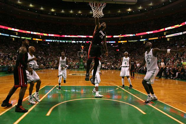 Udonis Haslem #40 Of The Miami Heat Dunks Getty Images