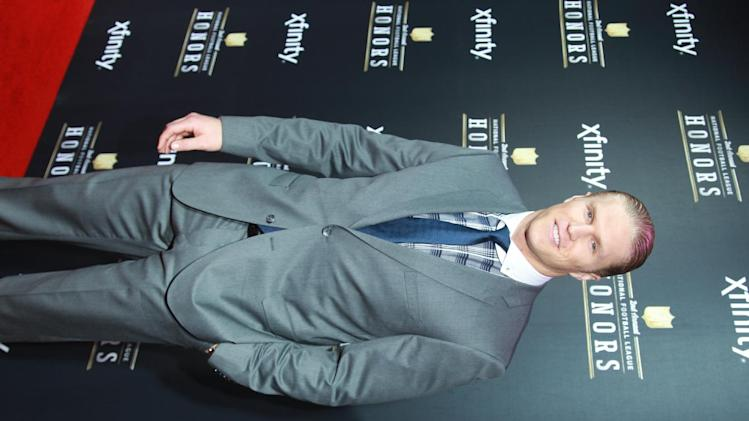 Clay Matthews of the Green Bay Packers arrives at the 2nd Annual NFL Honors, on Saturday, Feb. 2. 2013 in New Orleans (Photo by Dario Cantatore/Invision/AP)