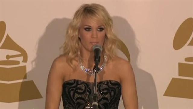 Carrie Underwood on 2013 Grammy win