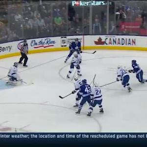 Ben Bishop Save on Phil Kessel (03:12/1st)