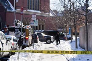 State and local police respond to reports of explosives at Harvard University in Cambridge
