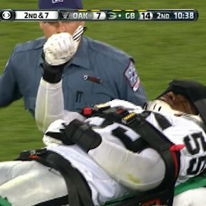 Oakland Raiders linebacker Sio Moore injury
