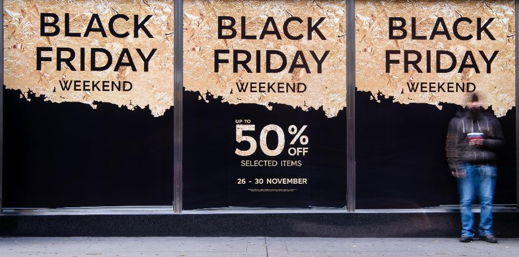 No crowds but online surge on Britain's 'Black Friday'