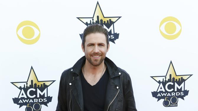 Singer Canaan Smith arrives at the 50th Annual Academy of Country Music Awards in Arlington