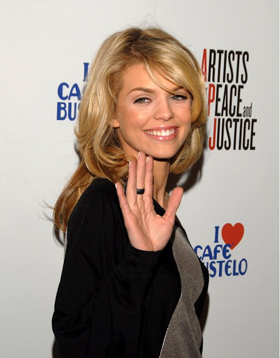 AnnaLynne McCord attends Artists For Haiti benefit at Track 16 Gallery on January 28, 2010 in Santa Monica, California.