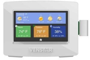 Venstar ColorTouch Thermostats Now Feature Real-Time Weather, Remote Firmware Upgrades and Humidity Support