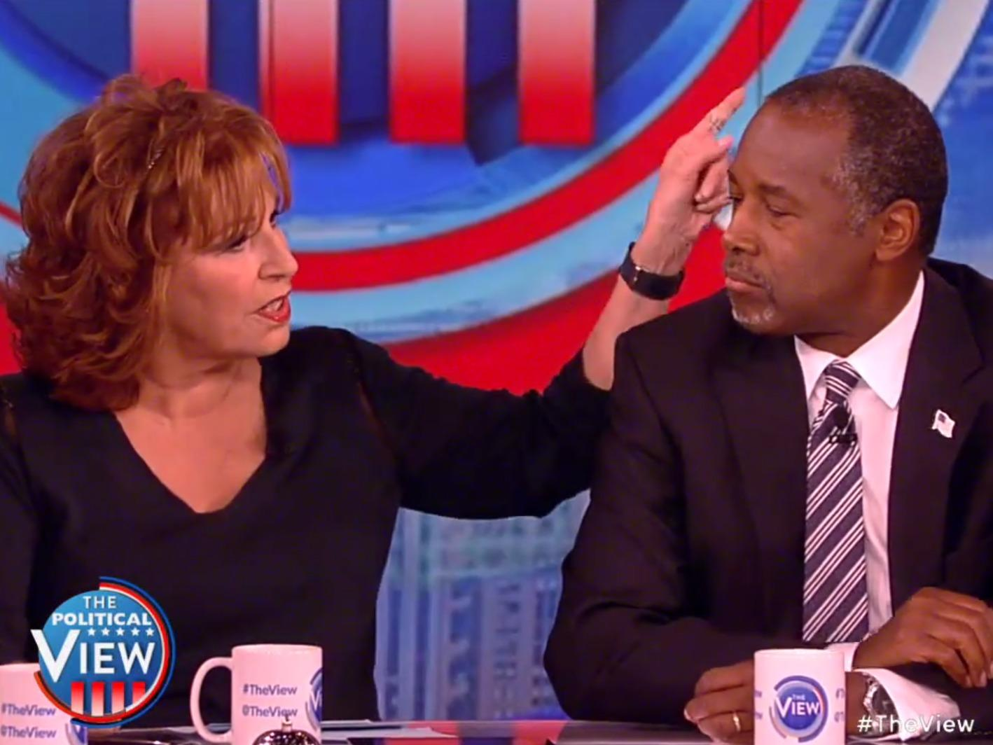 Ben Carson just had an epic interview on 'The View' about Nazis, evolution, and hurricanes