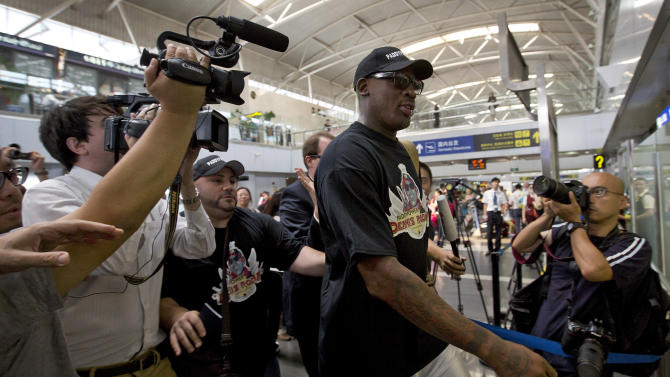 Rodman leaves NKorea without word if he met leader