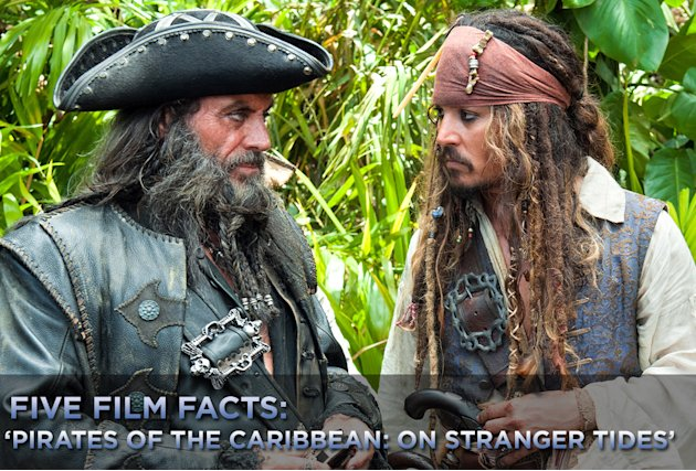 Five Film Facts Pirates of the Caribbean on Stranger Tides title card