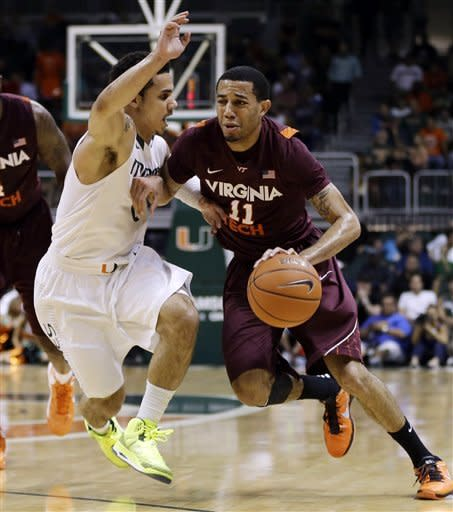 Larkin leads No. 5 Miami past Virginia Tech 76-58