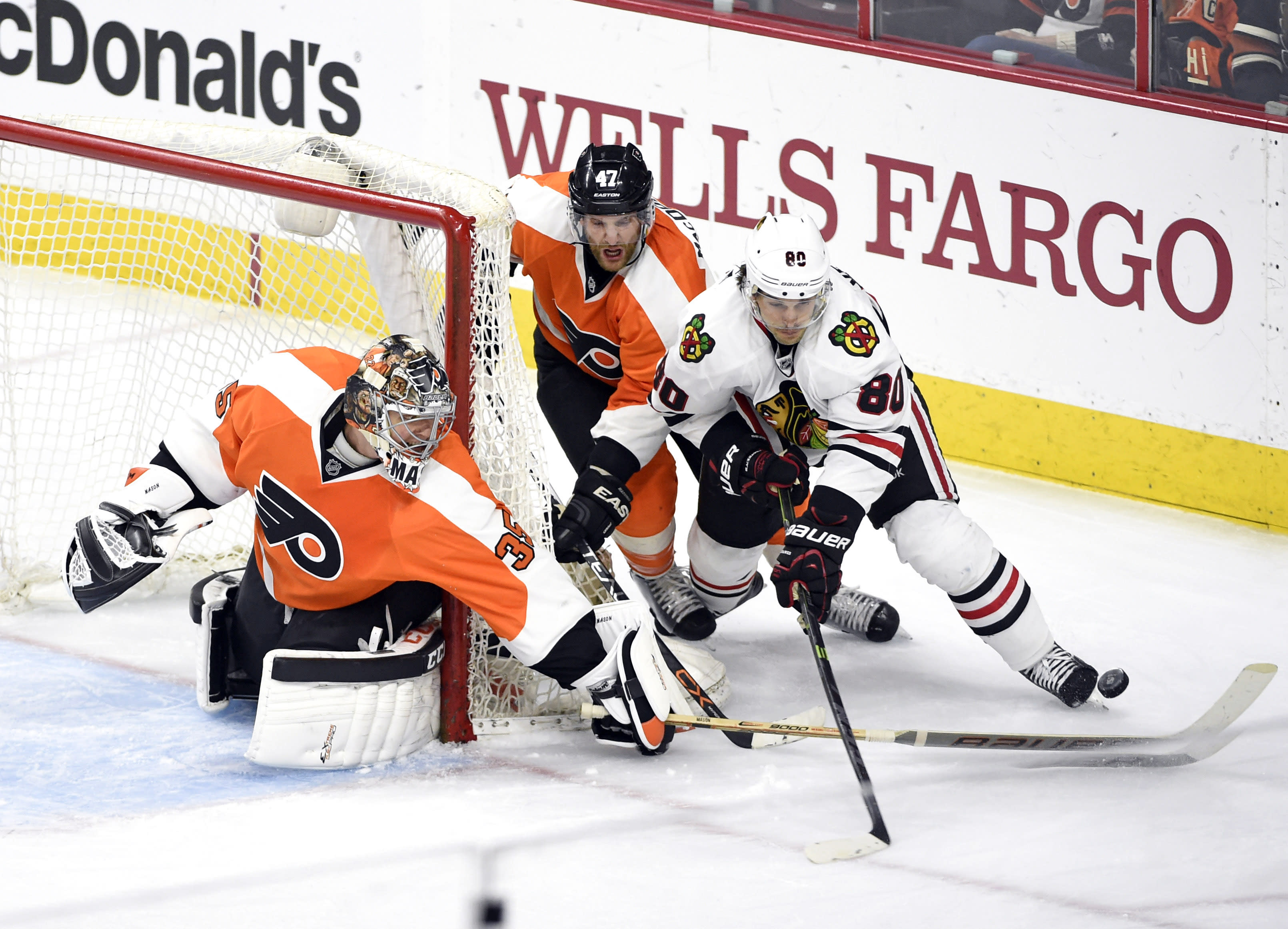 NHL Three Stars: Mason grounds Hawks; Hemsky damages Flames' hopes