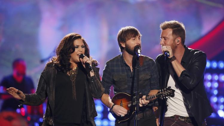 "Lady Antebellum performs ""Compass"" during the 4th annual American Country Awards in Las Vegas"