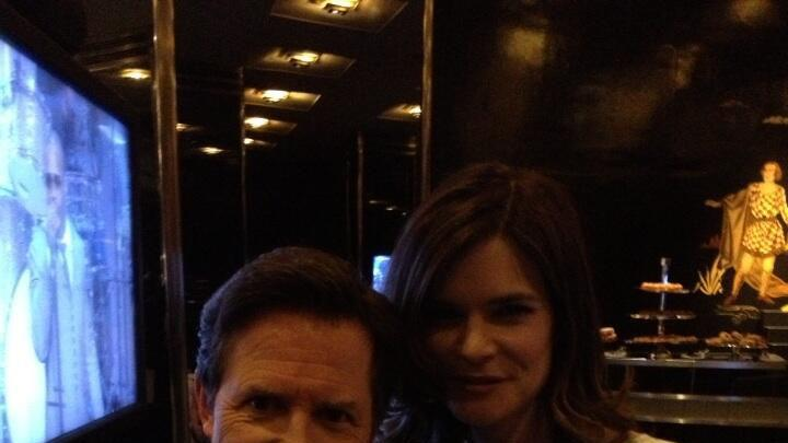 Michael J. Fox and Betsy Brandt