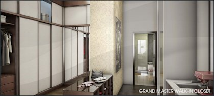 The master walk-in closet of unit 209 is 102 square feet. Click on either photo to see the property listing, with many more photo renderings of the Echo Aventura project.