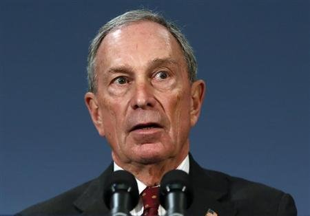 New York City Mayor Michael Bloomberg speaks to the media at New York's City Hall after a ruling invalidating the city's plan to ban large sugary drinks from restaurants and other eateries, March 11, 2013. REUTERS/Brendan McDermid