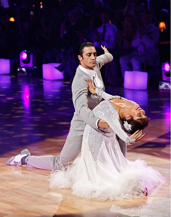 "Gilles Marini and Cheryl Burke perform the Waltz to ""Come Away with Me"" by Norah Jones on ""Dancing with the Stars."""
