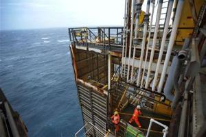 Employees work on the BP Eastern Trough Area Project…