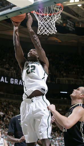 No. 9 Michigan State tops Purdue 83-58, snaps skid