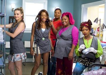 Alicia Silverstone , Golden Brooks , Queen Latifah , Sherri Shepherd and Alfre Woodard in MGM's Beauty Shop