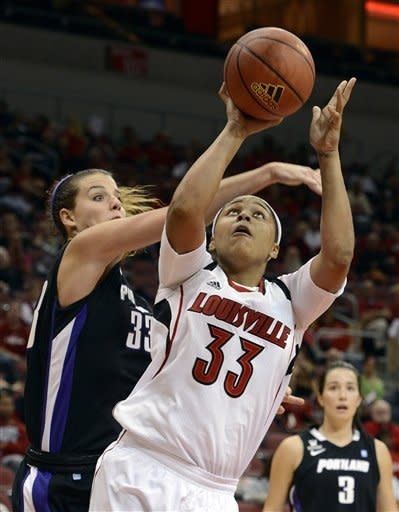 No. 9 Louisville eases past Portland 95-48