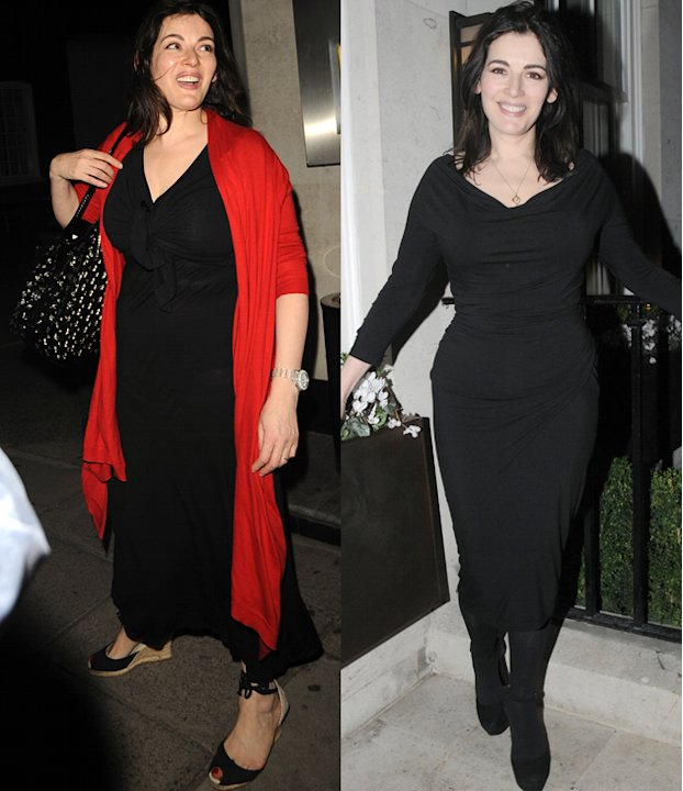 Nigella Lawson weight loss: The domestic goddess lost some of fabulous curves this year turning from a size 18 to a 12. Her trimmer look was achieved by following the Bodyism Clean and Lean plan  - a