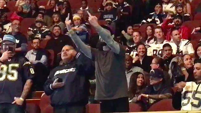 A Fan Interrupted A Chargers Event With Middle Fingers And Adults In Jerseys Were Very Angry At Him