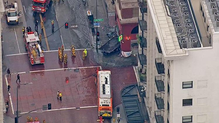 MTA bus driver killed in downtown LA crash involving tow truck