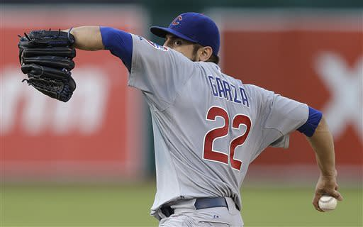 Garza throws 8 strong innings in Cubs' 3-1 win
