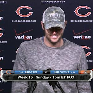 Jay Cutler on Josh McCown: 'There is not a debate in this building'