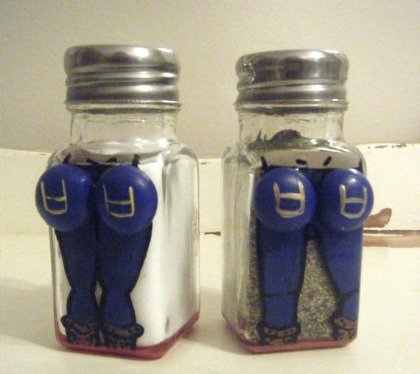 Blue Jean Cowboy and Cowgirl Salt and Pepper Shakers