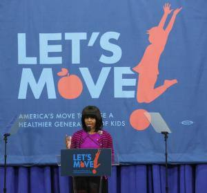 First lady announces effort to help kids exercise
