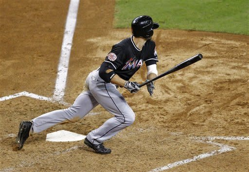 Marlins' Stanton has RBI single in 10th