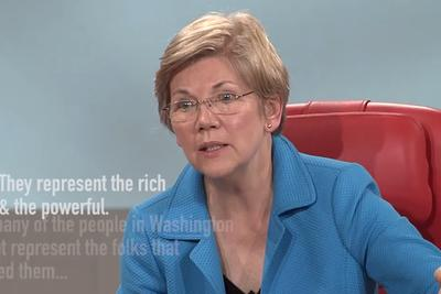 Elizabeth Warren is mad as hell, and it's led to her most viral video ever