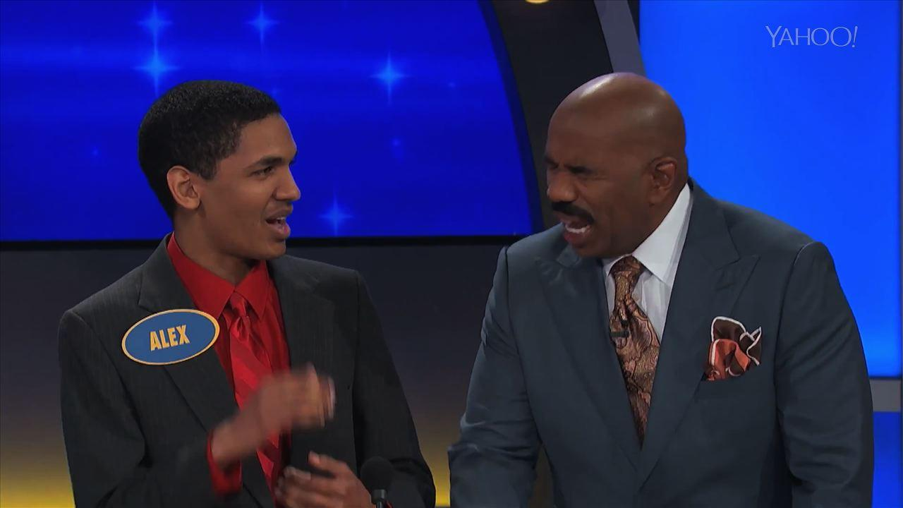 Steve Harvey Loses His Cool on 'Family Feud' on 'This Week in Game Shows'