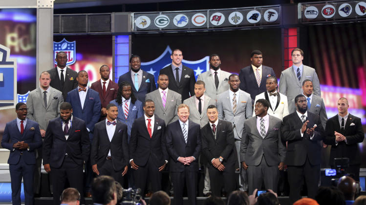 NFL's big guys strut draft in stripes