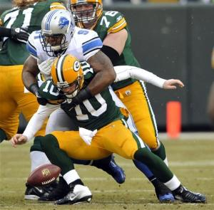 Flynn throws 6 TDs, Packers beat Lions 45-41
