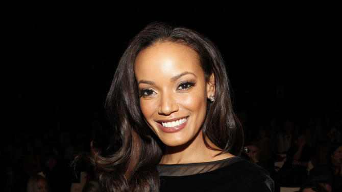 Model Selita Ebanks is seen at the Fall 2013 Badgley Mischka Runway Show on Tuesday, Feb. 12, 2013 in New York. (Photo by Amy Sussman/Invision/AP)