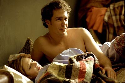 Sam Rockwell and Drew Barrymore in Miramax's Confessions of a Dangerous Mind