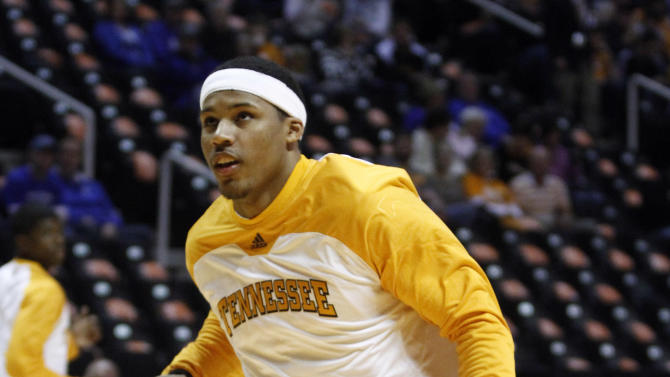 Tennessee's Jarnell Stokes warms up before an NCAA college basketball game against Kentucky on Saturday, Jan. 14, 2012, in Knoxville, Tenn. (AP Photo/Wade Payne)