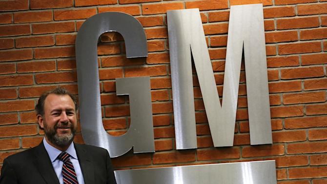 Ammann, President of General Motors, poses after a news conference in Sao Paulo
