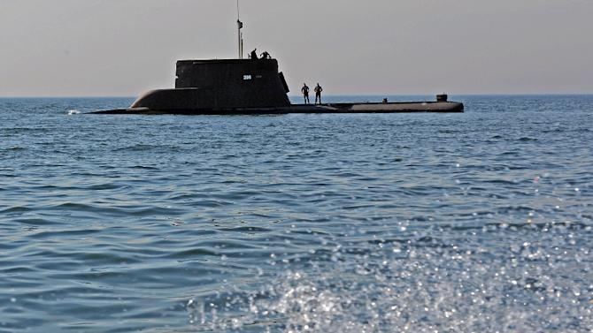 "Submarine ORP ""Sep"" takes part in the NATO exercises 'Dynamic Monarch 2014', near Gdynia on 22 May 2014"